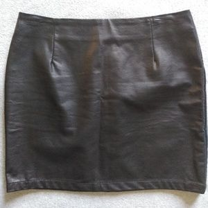 Forever 21 pleather Mini skirt size L